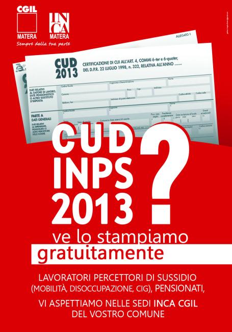 manifesto cud INPS 2013