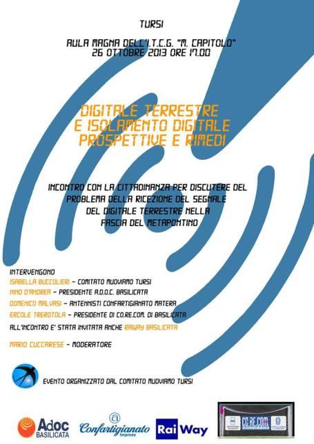 Locandina evento digitale terrestre - Tursi