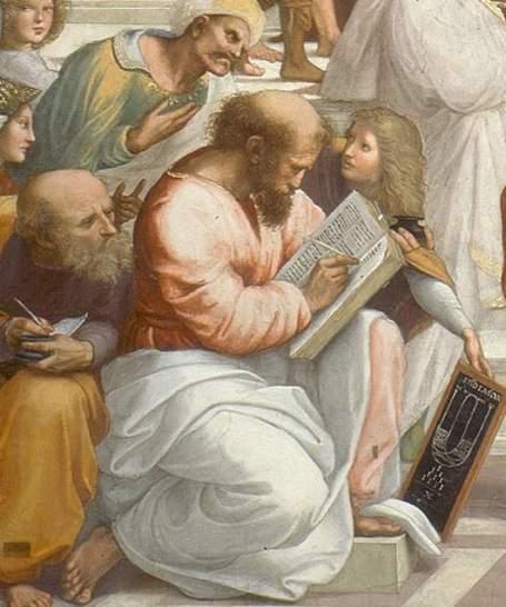 Scuola di Atene - Raffaello-Pitagora