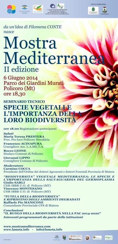 Locandina Seminario Biodiversità
