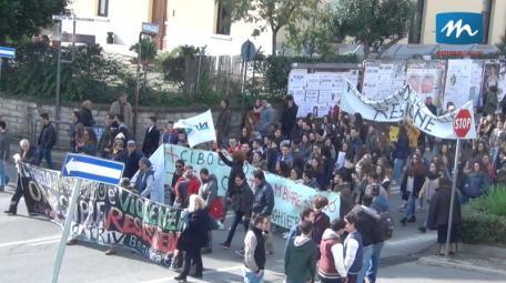 Manifestazione stiudenti clima