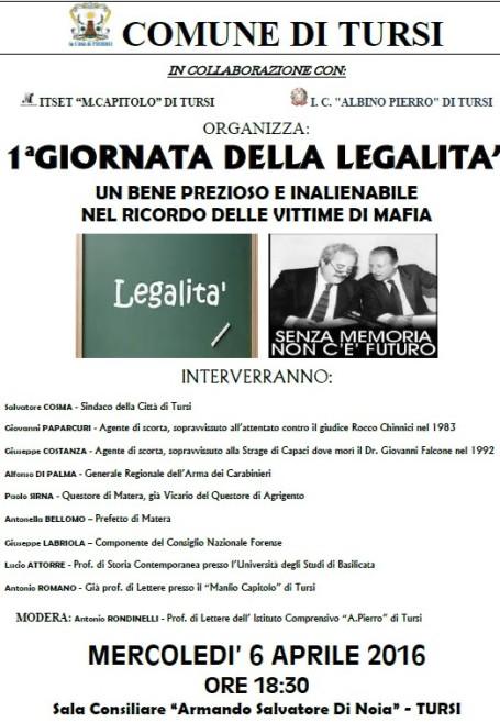 GIORNATA DELLA LEGALITA'