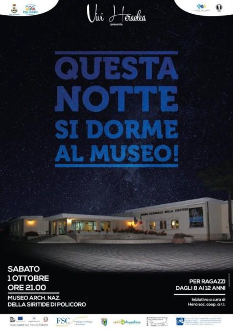 Questa notte si dorme al Museo