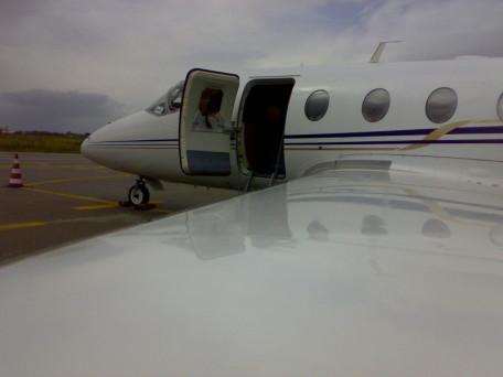 l'aereo della flotta winfly a pisticci
