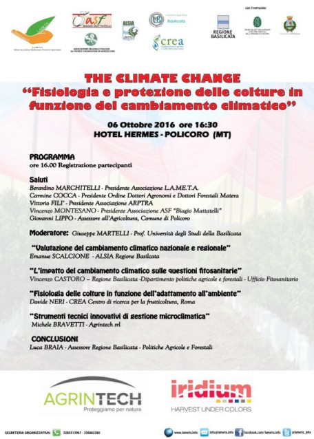 locandina CLIMATE CHANGE 2016