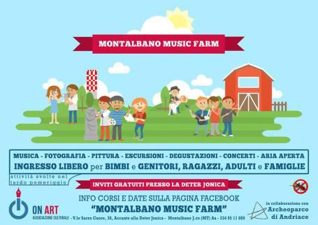Locandina Montalbano Music Farm