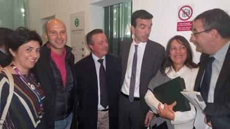 dirigenti cia con ministro Martina
