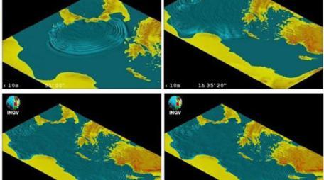 tsunami simulazione