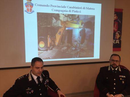 conferenza carabinieri furto bernalda