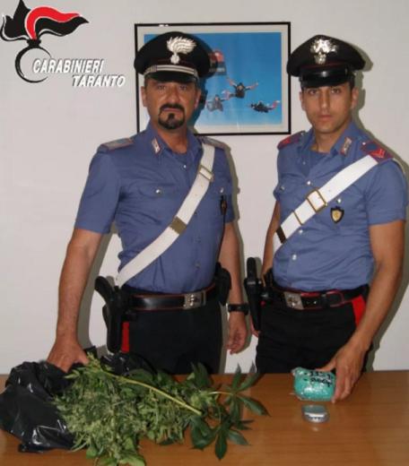 carabinieri droga massafra