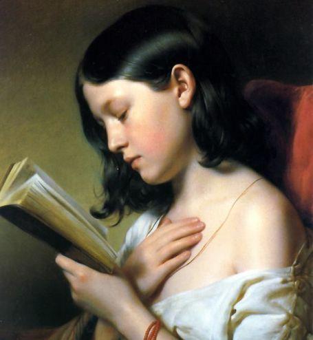 Ragazza che legge (Franz Eybl, 1850)
