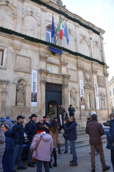 Polizia conferenza stampa matera