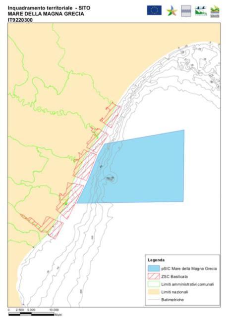 Inquadramento territoriale Area Marina Protetta