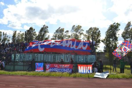 Coreografia degli Ultras nella semifinale playoff