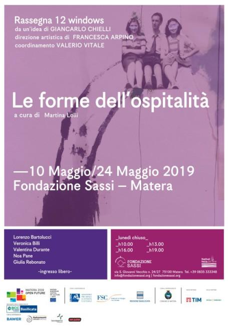 Fondazione Sassi - Locandina mostra a Matera le forme dell'ospitalità