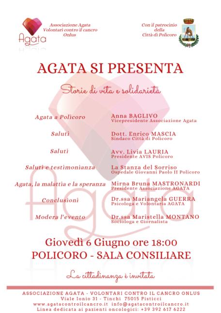Locandina Agata si presenta a Policoro