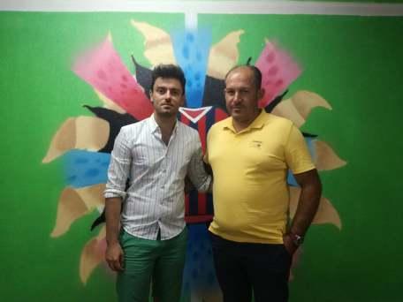 Mister D'Onofrio con il presidente Borraccia