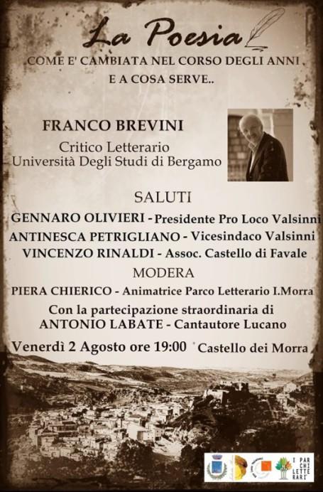 locandina Franco Brevini a Valsinni