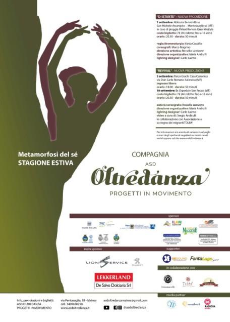 Compagnia ASD OLTREDANZA - locandina D-ISTANTE e Revival