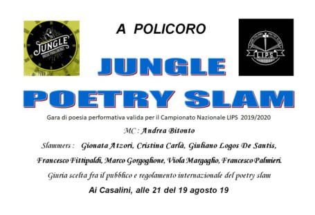 Locandina Jungle Poetry Slam