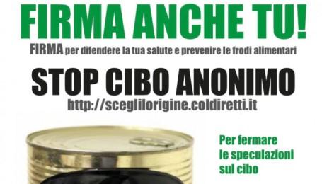 STOP CIBO ANONIMO