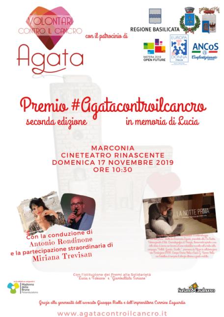 Premio #Agatacontroilcancro seconda edizione LOCANDINA