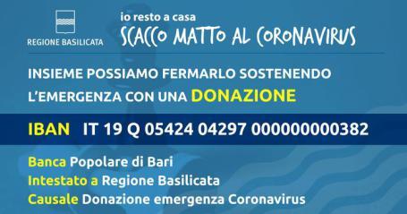 coronavirus campagna fondi regione