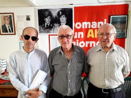 """Al Circolo Culturale """"Berardino Grieco"""" con i rappresentanti del Comitato Cisterna e Tamburrano - foto di Antonio Avantaggiato"""