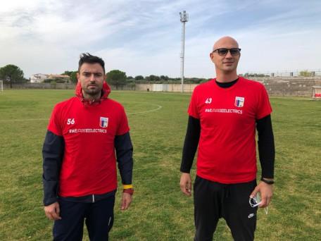 Antonio D'Onofrio con il preparatore Corbino