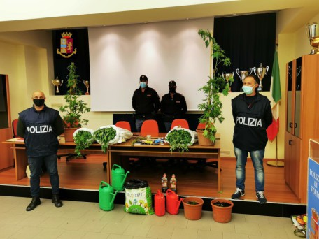 marijuana e altro materiale sequestrato