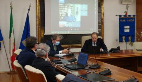 11.01.2021_Deposito scorie, videoconferenza con la Regione Puglia_ Bardi, Busciolano, Rosa, Galante_2